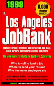 Cover of: The Los Angeles Jobbank 1998 (Adams Jobbank Series) | Steven Graber