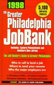 Cover of: 1998 The Greater Philadelphia Jobbank | Steven Graber