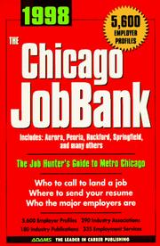 Cover of: The Chicago Jobbank 1998 (Job Bank Series) | Steven Graber