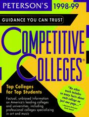 Cover of: Peterson's Competitive Colleges | Petersons