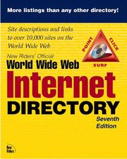 Cover of: New Riders' Official Internet and World Wide Web Directory by New Riders Development