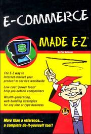 Cover of: E-Commerce Made E-Z (Made E-Z Guides) by Paul Galloway