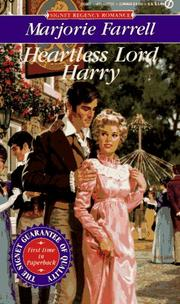 Cover of: Heartless Lord Harry by Marjorie Farrell