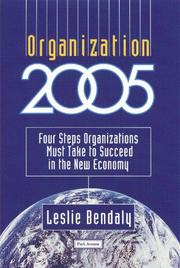 Cover of: Organization 2005 | Leslie Bendaly