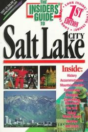 Cover of: The Insiders' Guide to Salt Lake City (1st ed) by Kate Duffy