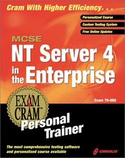 Cover of: MCSE NT Server 4 in the Enterprise Exam Cram Personal Trainer (Exam: 70-068) | James Michael Stewart