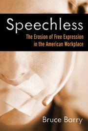 Cover of: Speechless by Bruce Barry