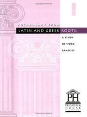 Cover of: Vocabulary from Latin and Greek Roots | Elizabeth Osborne
