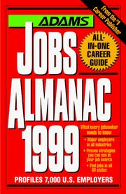 Cover of: Adams Jobs Almanac 1999 (Adams Jobs Almanac) | Steven Graber