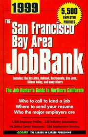 Cover of: San Francisco Bay Area Jobbank 1999 (San Francisco Bay Area Jobbank, 14th ed) | Steven Graber
