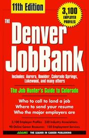 Cover of: The Denver JobBank, 1999 | Steven Graber