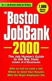 Cover of: The Boston JobBank, 2000 | Steven Graber