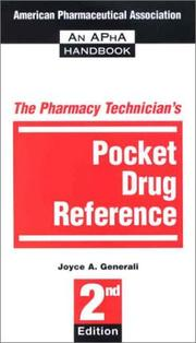 Cover of: The Pharmacy Technician's Pocket Drug Reference | Joyce A. Generali