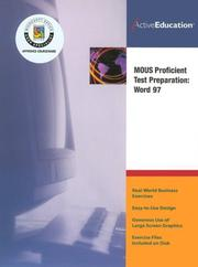 Cover of: Word 97 (MOUS) Proficient Test Preparation by ActiveEducation