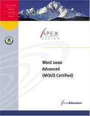 Cover of: Word 2000 Advanced by ActiveEducation