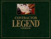 Cover of: Contractor Legend Logbook | Glenn Murray