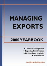 Cover of: Managing Exports 2000 Yearbook | Chris Horner