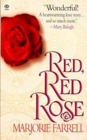 Cover of: Red, Red Rose by Marjorie Farrell