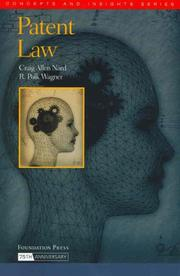 Cover of: Patent Law | Craig Allen Nard