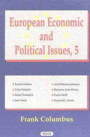 Cover of: European Economic and Political Issues, Volume 5 | Frank Columbus