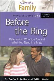 Cover of: Before the Ring Teacher's Resource Guide 1 (The Successful Family) by Creflo Dollar