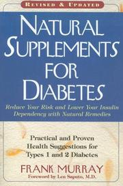 Cover of: Natural Supplements for Diabetes | Frank Murray