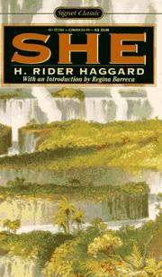 Cover of: She | H. Rider Haggard