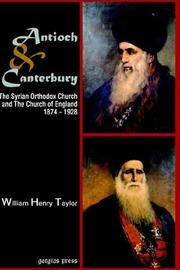 Cover of: Antioch And Canterbury by William Taylor