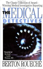 Cover of: The Medical Detectives (Plume) | Berton Roueché