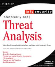 Cover of: InfoSecurity 2008 Threat Analysis by Michael Gregg