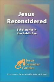 Cover of: Jesus Reconsidered | Bernard Brandon Scott