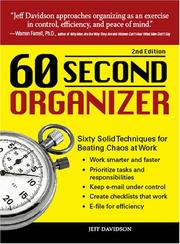 Cover of: 60 Second Organizer | Jeff Davidson