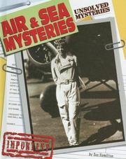 Cover of: Air & Sea Mysteries (Unsolved Mysteries) | Sue Hamilton