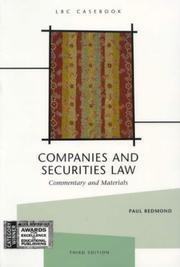 Cover of: Companies and securities law | Paul Redmond