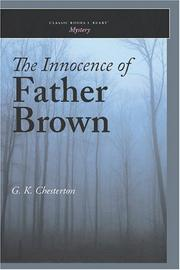 Cover of: The Innocence of Father Brown by G. K. Chesterton