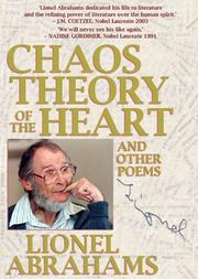 Cover of: Chaos Theory of the Heart | Lionel Abrahams