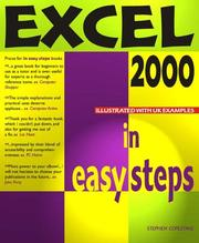 Cover of: Excel 2000 in Easy Steps | Stephen Copestake