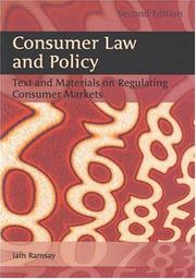 Cover of: Consumer Law And Policy | Iain Ramsay