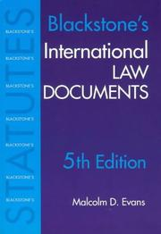 Cover of: International Law Documents | M. Evans