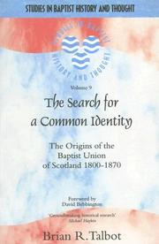 Cover of: The Search for a Common Identity | Brian Talbot