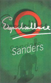 Cover of: Sanders | Edgar Wallace