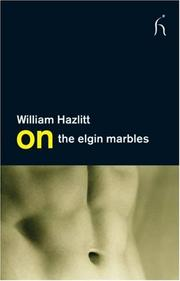 Cover of: On the Elgin Marbles (On) | William Hazlitt