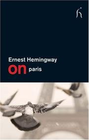 Cover of: On Paris (On) by Ernest Hemingway