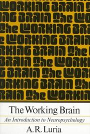 Cover of: Working Brain | Aleksandr Romanovich Luria
