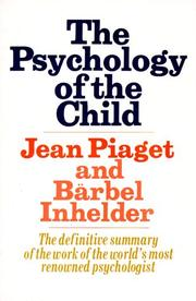 Cover of: La psychologie de l'enfant by Jean Piaget