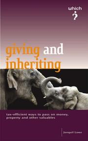 "Cover of: The ""Which?"" Guide to Giving and Inheriting (Which? Consumer Guide) by Jonquil Lowe"