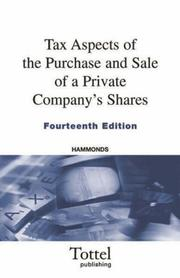 Cover of: Tax Aspects of the Purchase and Sale of a Private Company's Shares | Hammond Suddards