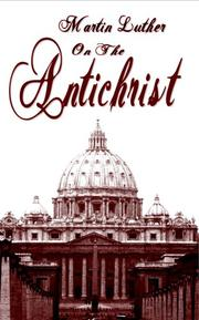 Cover of: The Antichrist by Martin Luther