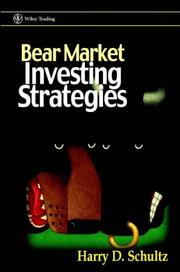 Cover of: Bear market investing strategies by Harry D. Schultz