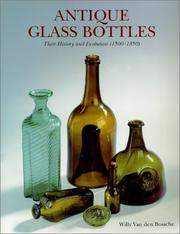 Cover of: Antique Glass Bottles by Willy Van den Bossche